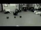 Academy of Kempo Martial Arts Using Medicine Ball Core Training Before Kung Fu Practice