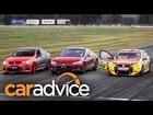 Tesla Model S v Holden V8 Supercar v Walkinshaw HSV GTS Drag Race
