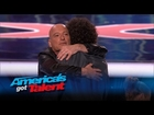 Howard Stern and Howie Mandel Have a Bromance Dance - America's Got Talent 2015
