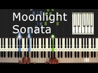 Moonlight Sonata - Beethoven - Piano Tutorial Easy - How To Play