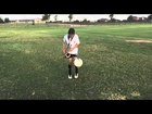 11 year old playing Saxophone while juggling a soccer ball