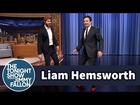 Liam Hemsworth and Jimmy Strut in High Heels