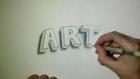 Dessin de lettres en 3D - ART
