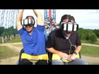 Riding the Superman Virtual Reality Roller Coaster at Six Flags America